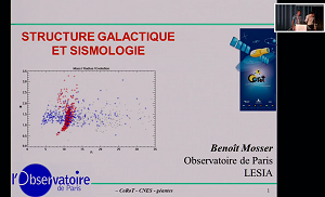 Galactic structure and sismology by Benoît Mosser